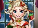 Cabeleireiro de Natal Elsa Frozen