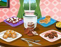 Decorar mesa de cookies com leite