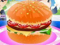 Preparar hambúrguer decorado