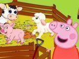 Peppa Pig cuidar dos bichinhos da fazenda