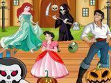 Ariel decorar castelo do Halloween