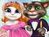 Casal de noivos Tom e Angela