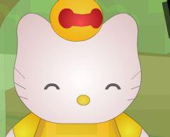 Decoração da casinha da Hello Kitty