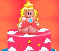 Decoração de bolo com Peach princesa