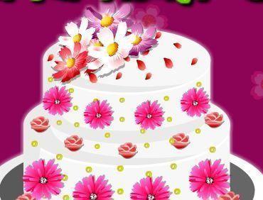 Decoração de flores para bolo