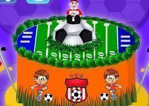 Decoração do bolo da Copa do Mundo