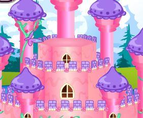 Decoração do castelo das princesas