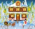 Decorar a casa de bonecas para o Natal