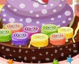 Decorar bolo colorido