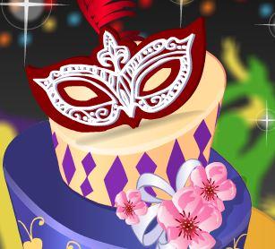 Decorar bolo de carnaval