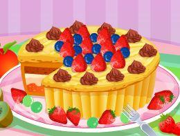 Decorar bolo de frutas e chocolate