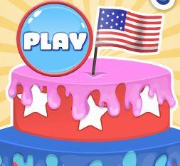 Decorar bolo dos Estados Unidos