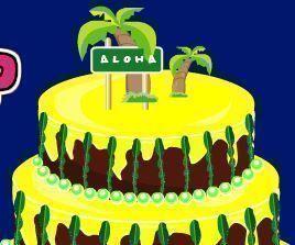 Decorar bolo tropical
