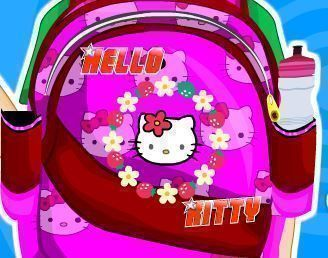 Decorar mochila da Hello kitty