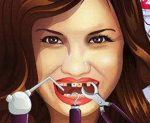 Demi Lovato no dentista