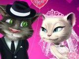 Angela e Tom roupas de casamento