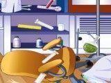 Limpar laborotório da cientista