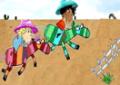 Disputar Corrida de cavalo