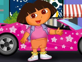 Dora dirigir carro