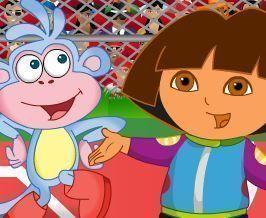 Dora e Diego jogar basquete