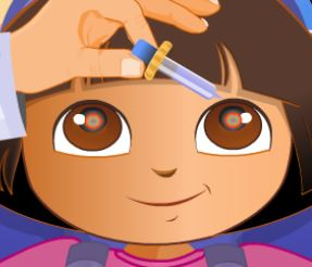 Dora e Diego médico dos olhos