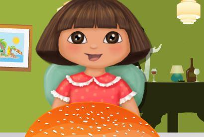 Dora fazer hambúrguer do Mc`Donalds