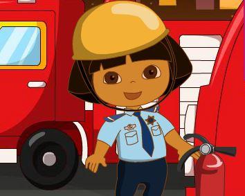 Dora roupas de bombeira