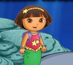 Dora sereia atividades no mar