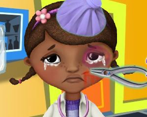 Doutora dos Brinquedos no hospital