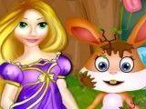 Coelho cuidados da Rapunzel