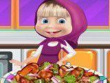 Masha receita de frango com legumes