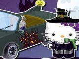 Lavar carro da Hello Kitty bruxa