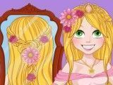 Noiva Rapunzel penteado