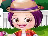 Bebê Hazel jardineira