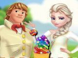 Fazer sorvete da Elsa e Kristoff