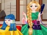 Roupas da cabeleireira Rapunzel