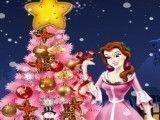 Princesa Bela decorar árvore de natal