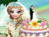 Elsa fazer bolo do casamento