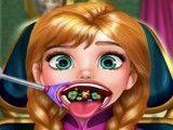 Frozen Anna cuidar da garganta