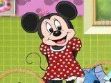 Minnie na lavanderia
