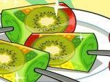 Fazer picolé de kiwi e morango