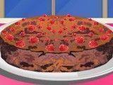 Fazer bolo de chocolate com cereja
