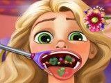 Rapunzel médico da garganta