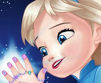 Elsa bebê fazer as unhas