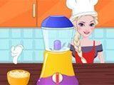 Elsa fazer bolo