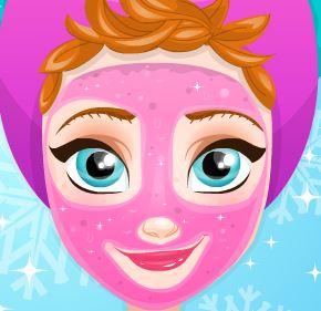 Elsa Frozen tratamento facial