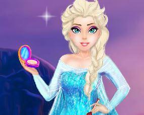 Elsa maquiagem do filme Frozen