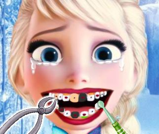 Elsa no dentista