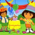 Escolher fantasia para Diego e Dora