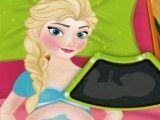 Elsa grávida consulta no médico